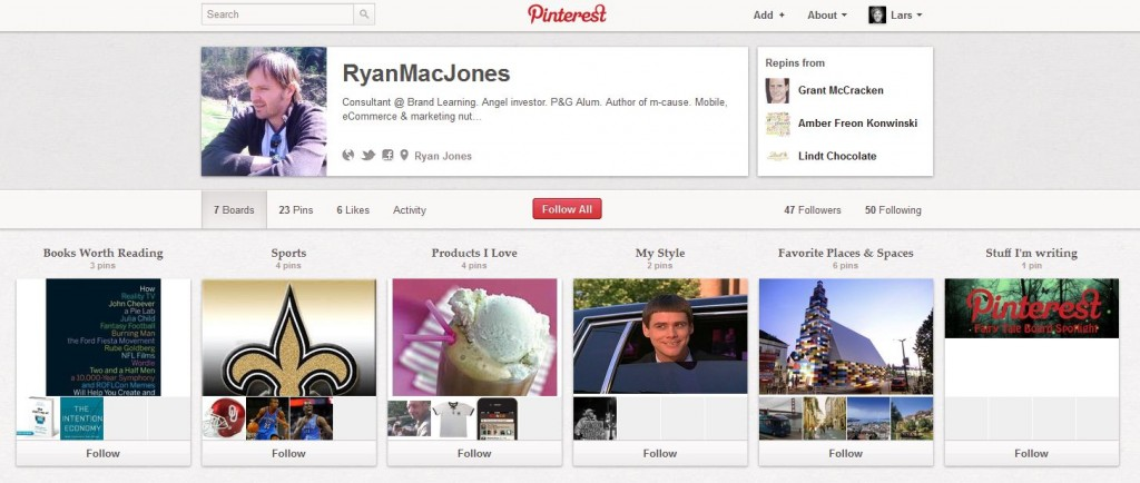 Ryan's Pinterest Profil