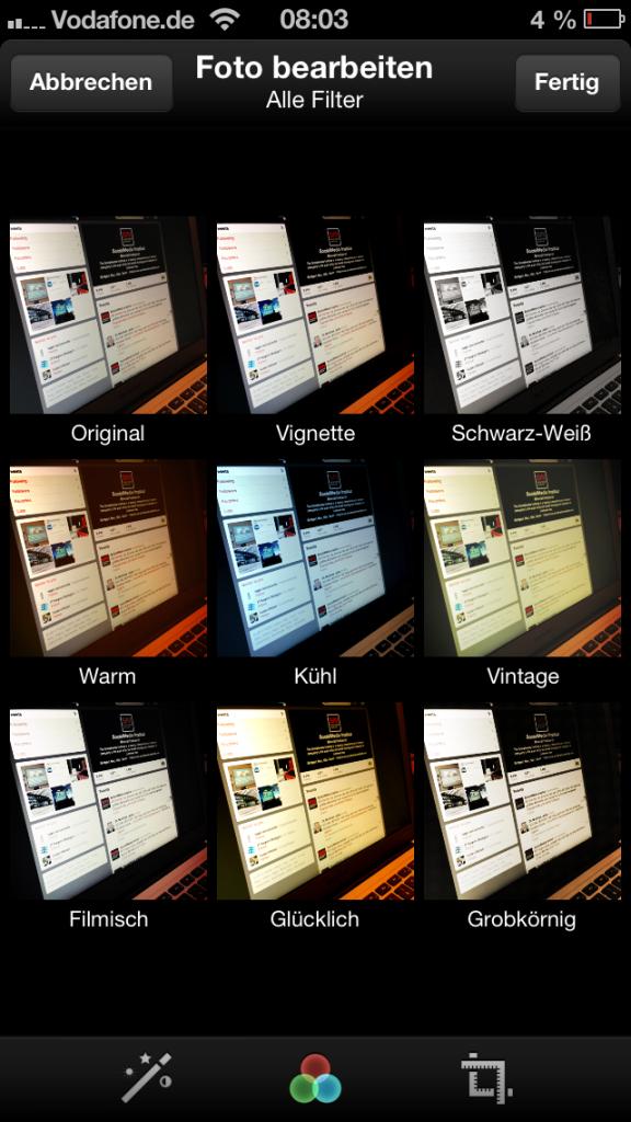 Twitter-Bildbearbeitung