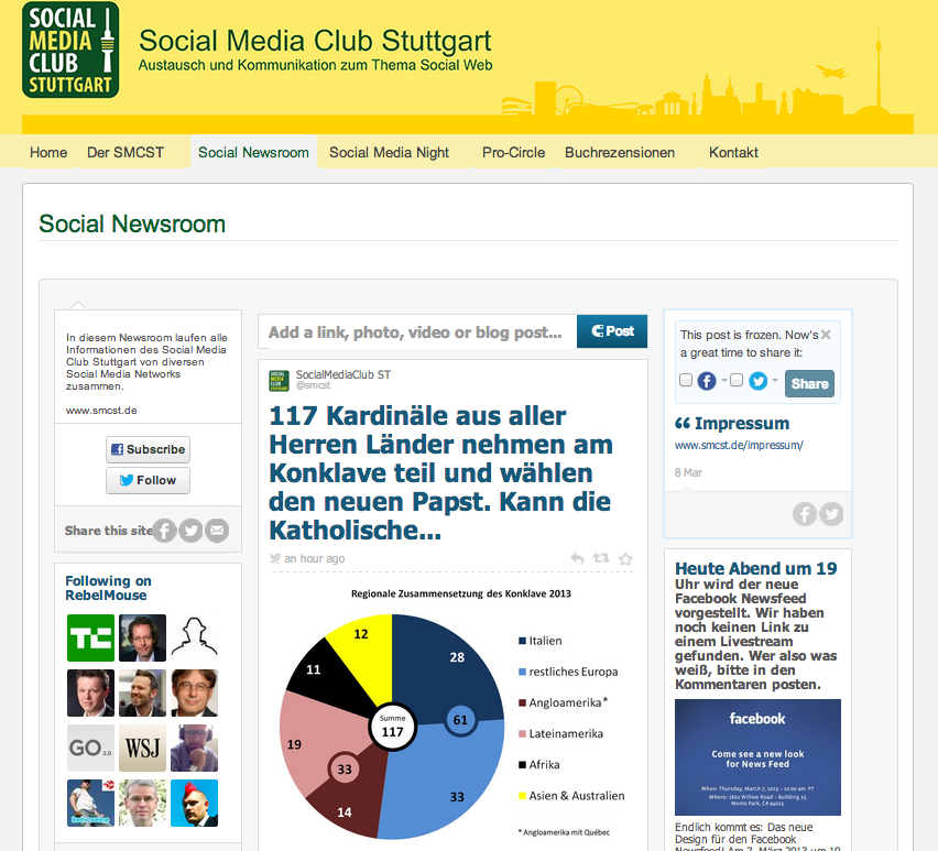 Social Media Newsroom des Social Media Club Stuttgart (SMCST)